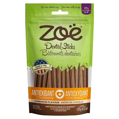 Zoe Antioxidant Dental Chew Sticks Cinnamon Flavour | Pisces Pets