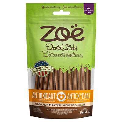 Zoe Antioxidant Dental Sticks Cinnamon Flavour - Large | Pisces Pets