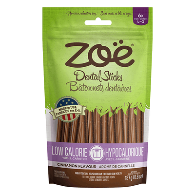 Zoe Low Calorie Dental Sticks Cinnamon Flavour - Large | Pisces Pets
