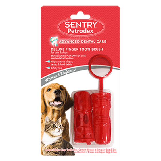 Sentry Pertodex Deluxe Finger Toothbrush | Pisces Pets