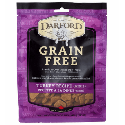 Darford Grain Free Turkey Minis - 340 g | Pisces Pets