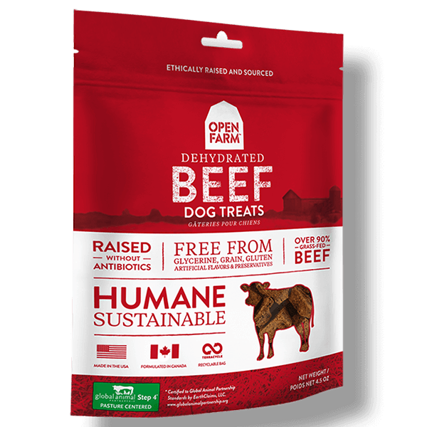 Open Farm Dehydrated Beef Dog Treats | Pisces Pets