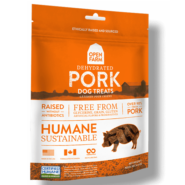 Open Farm Dehydrated Pork Dog Treats | Pisces Pets