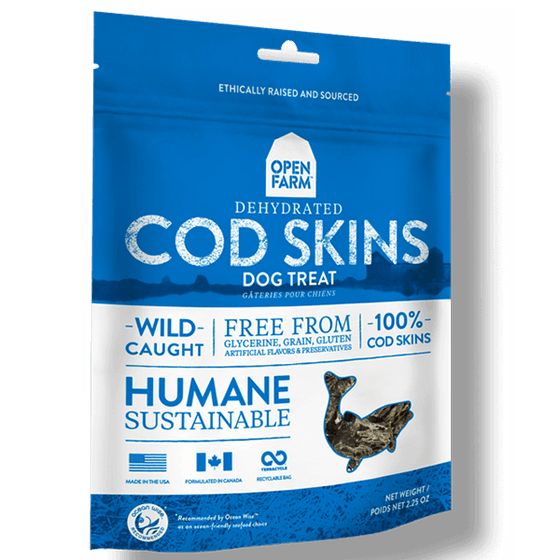 Open Farm Dehydrated Cod Skins Dog Treat | Pisces Pets