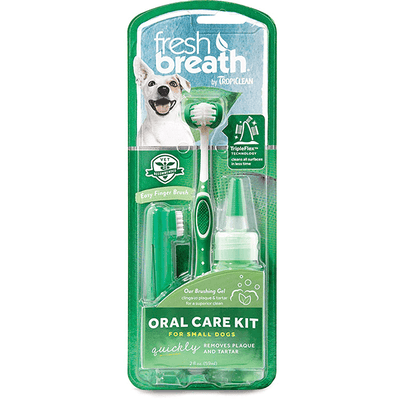Tropiclean Fresh Breath Oral Care Kits - For Small Dogs | Pisces Pets