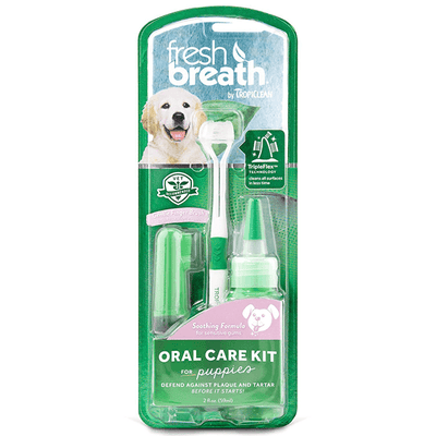 Tropiclean Fresh Breath Oral Care Kit for Puppies | Pisces Pets