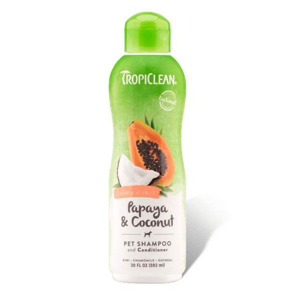 TropiClean Luxury 2-in-1 Papaya & Coconut Shampoo | Pisces Pets