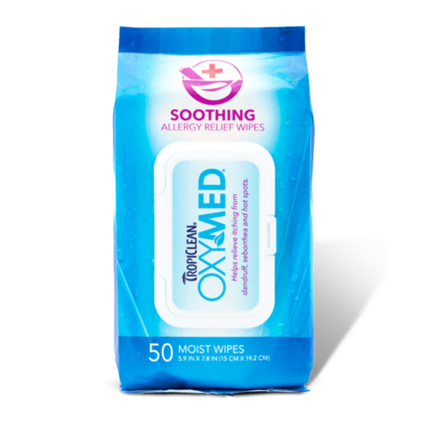 TropiClean OxyMed Allergy Relief Wipes | Pisces Pets