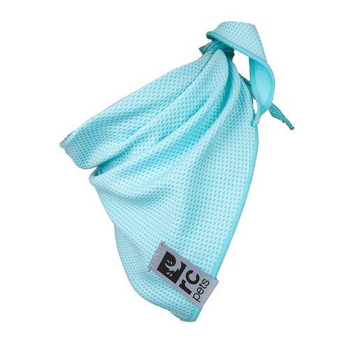RC Pets Ice Blue Zephyr Cooling Bandana - Available in 3 Sizes | Pisces Pets