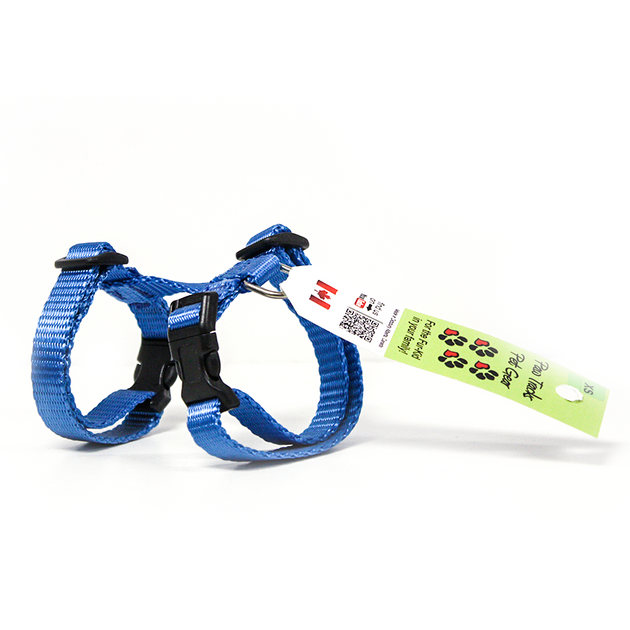Paw Tracks Pets Adjustable Cat Harness - Blue