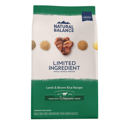 Natural Balance Limited Ingredient Lamb Meal & Brown Rice Dog Food | Pisces Pets
