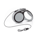 Flexi Comfort Grey Retractable Leash - Cord | Pisces Pets