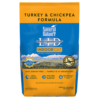 Natural Balance Limited Ingredient Turkey & Chickpea Indoor Cat Food | Pisces Pets