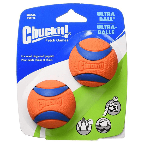 CHUCKIT! Ultra Ball 2 Pack - Small | Pisces Pets