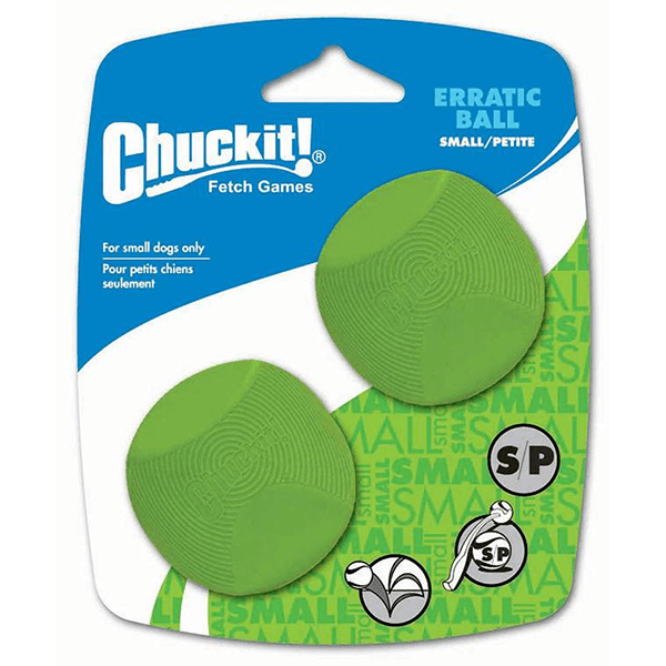 CHUCKIT! Erratic Ball 2 Pack - Small | Pisces Pets