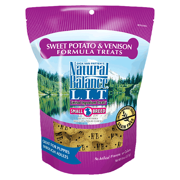 Natural Balance Small Breed Limited Ingredient Treats - Sweet Potato & Venison | Pisces Pets