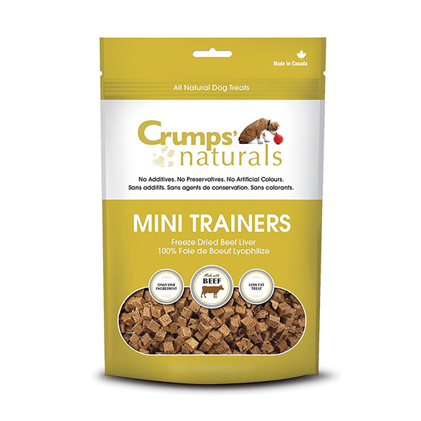 Crumps Beef Liver Mini Trainers - 50 g | Pisces Pets