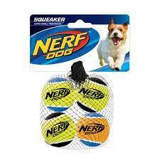 Nerf Dog Tennis Balls 4 Pack Extra Small | Pisces Pets