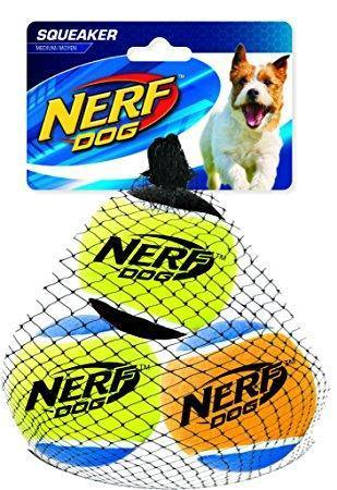 Nerf Dog Tennis Balls 3 Pack Medium | Pisces Pets