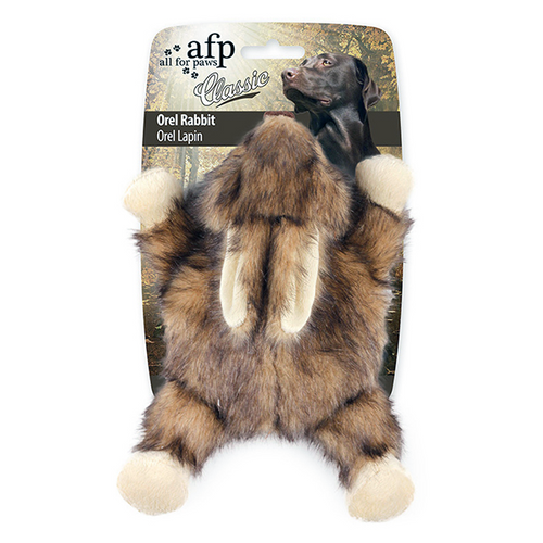 All For Paws Classic Orel Rabbit Flat Squeaker | Pisces Pets