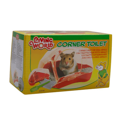 Living World Corner Toilet for Hamsters and Gerbils | Pisces Pets