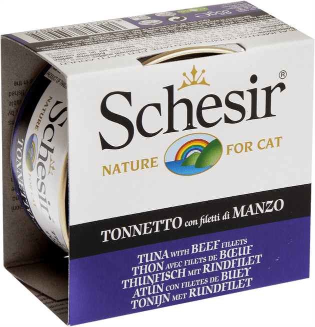 Schesir Adult Cat Tuna with  Beef  85 g | Pisces Pets