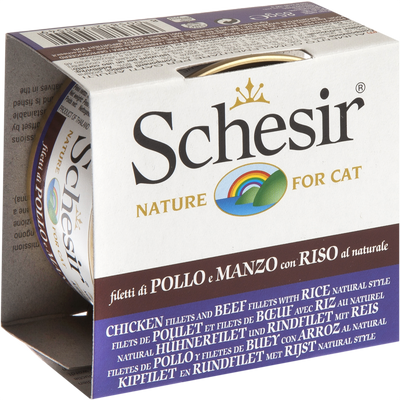 Schesir Adult Cat Food Chciken & Beef with Rice 85 g | Pisces Pets