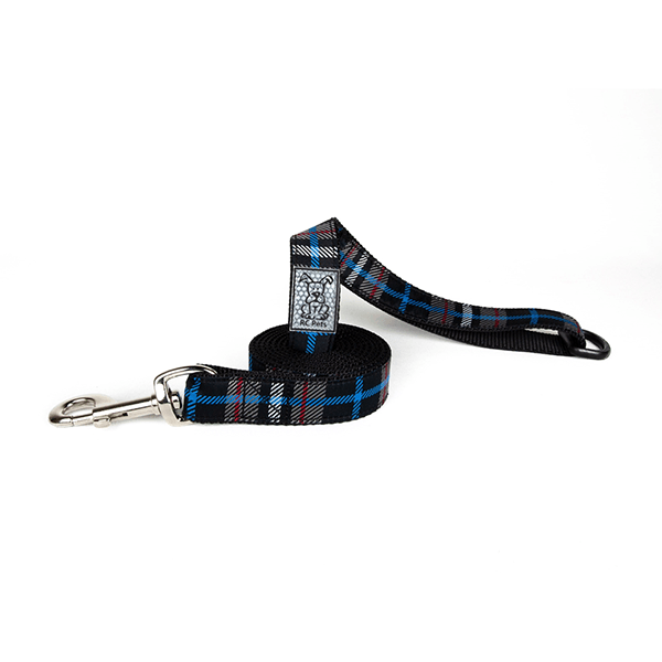 RC Pets Twill Plaid Dog Leash - Available in Multiple Sizes | Pisces Pets