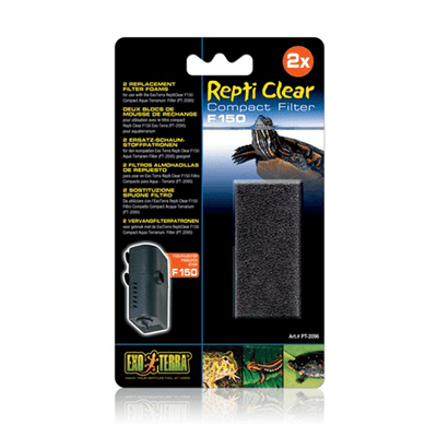 Exo Terra Repti Clear Replacement Filter Foam - 2 Pack | Pisces Pets