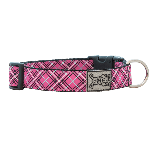 RC Pets Pink Tartan Clip Collar - Available in Multiple Sizes | Pisces Pets
