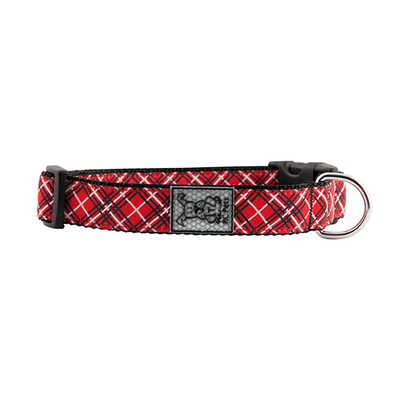 RC Pets Red Tartan Clip Collar - Available in Multiple Sizes | Pisces Pets