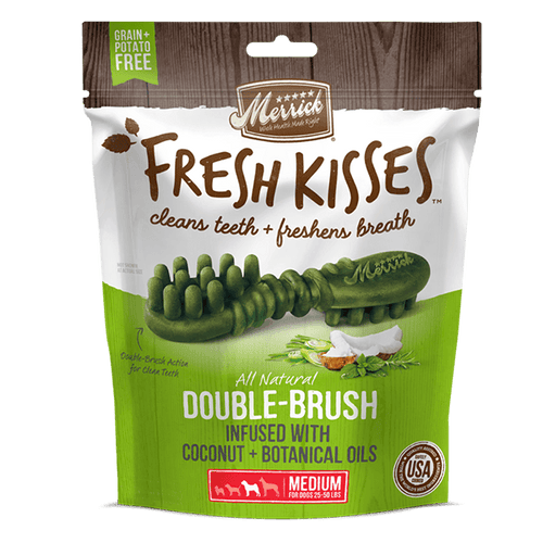 Merrick Fresh Kisses Coconut Oil Medium - Available in Multiple Sizes | Pisces Pets