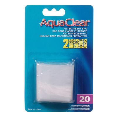 AquaClear 20 Nylon Filter Media Bag - 2 Pack | Pisces Pets