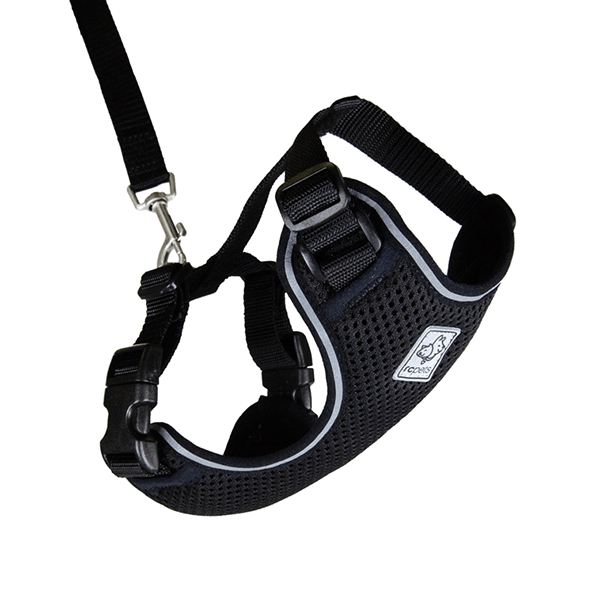 C Pets Black Adventure Kitty Harness - Available in 3 Sizes | Pisces Pets