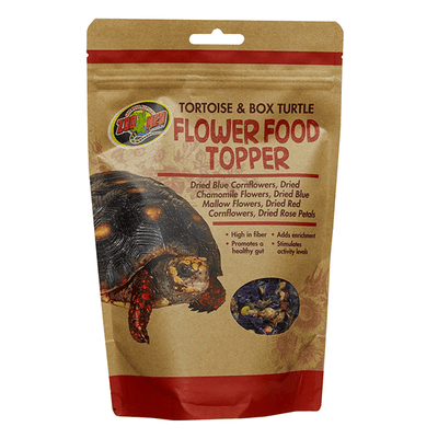 Zoo Med Tortoise & Box Turtle Flower Food Topper | Pisces Pets