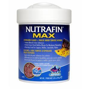 Nutrafin Max Livebearer Flakes + Freeze Dried Tubifex Worms | Pisces Pets