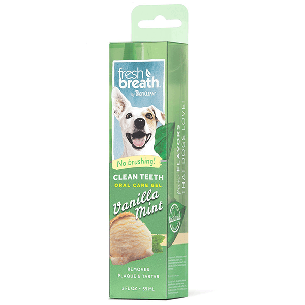 Tropiclean Fresh Breath Clean Teeth Oral Care Gel Vanilla Mint | Pisces Pets