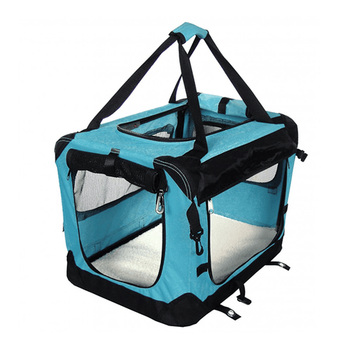 Tuff Crate Blue Deluxe Soft Crate - Available in 4 Sizes | Pisces Pets
