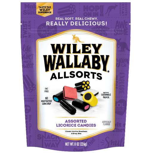 Wiley Wallaby Licorice - All Sorts 80z