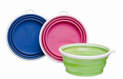 Bamboo Silicone Travel Bowl
