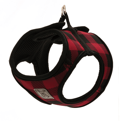 RC Pets Red Buffalo Plaid Step In Cirque Harness - Available in Multiple Sizes | Pisces Pets