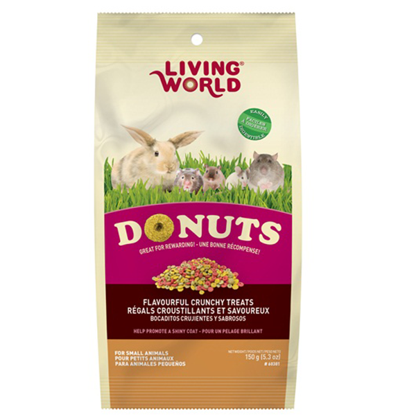 Living World Small Animal Donuts - 150 g | Pisces Pets