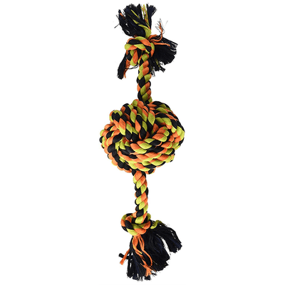 Mammoth Flossy Chews Monkey Fist Ball w/ Rope Ends - Large | Pisces Pets