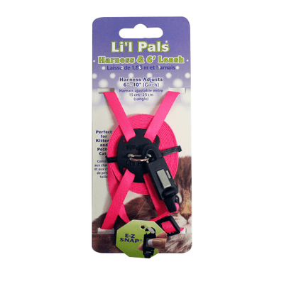 Lil Pals Adjustable Kitten Harness & 6' Leash Combo | Pisces Pets