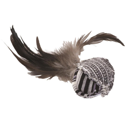 Turbo Random Fun Cat Toy Feather Ball | Pisces Pets