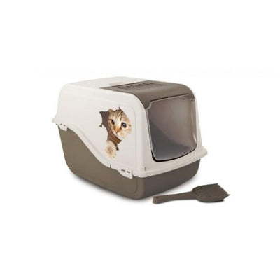 Bergamo Covered Litter Pan w/Decal