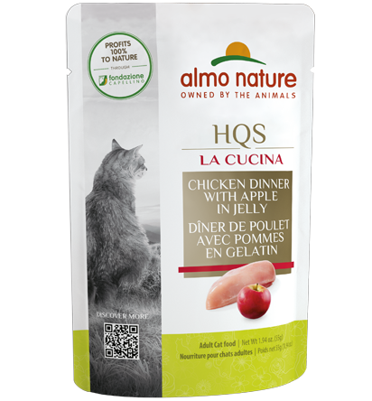 Almo Nature La Cucina Chicken with Apples Cat Food - 55 g | Pisces Pets