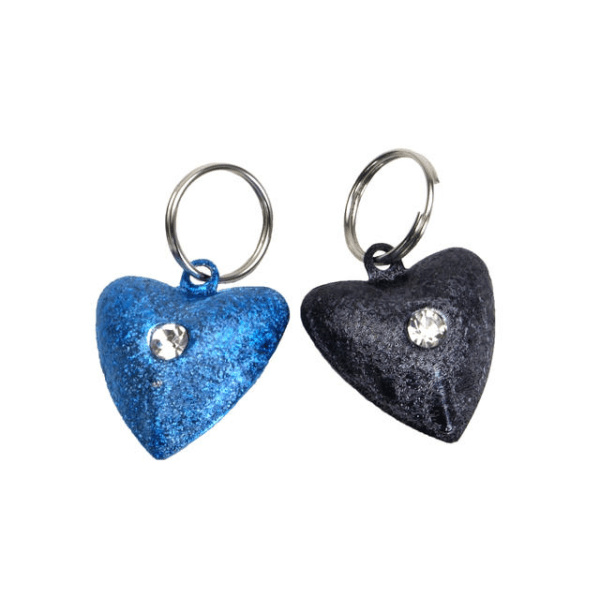 Coastal Pet Frosted Designer Heart Bell 2 Pack | Pisces Pets
