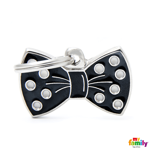 My Family Bow Tie Pet ID Tag | Pisces Pets