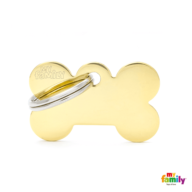 My Family Gold Pet ID Tag | Pisces Pets